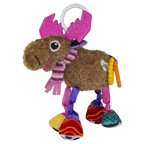 Lamaze Clip & Go Muffin the Moose, Baby Car Seat Toy