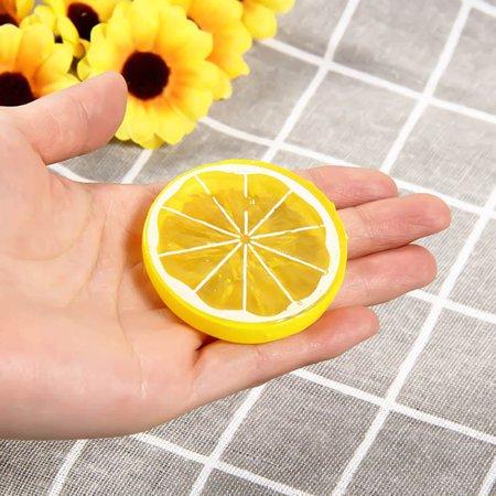 KABOER 10PCS Decorative Artificial Plastic Lemon Slice Home Decor Fake Fruit Funny ()