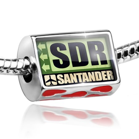 Bead Airportcode Sdr Santander Charm Fits All European Bracelets