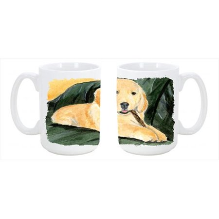 Carolines Treasures SS8761CM15 Golden Retriever Dishwasher Safe Microwavable Ceramic Coffee Mug 15 oz. - image 1 de 1