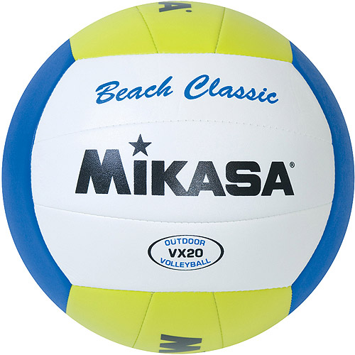 Mikasa VX20 Beach Classic Varsity Outdoor Volleyball, Green/Blue/White
