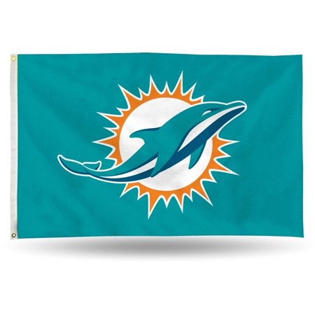 Miami Dolphins Flag (Rico Industries NFL 3' x 5' Banner Flag, Miami)