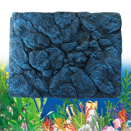 Moaere 3D PU Rock Reptile Stone Aquarium Background Backdrop for Fish Tank