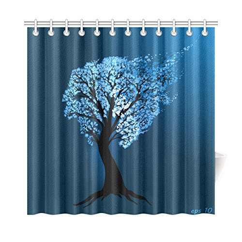 Mkhert Blue Tree Of Life Shower Curtain