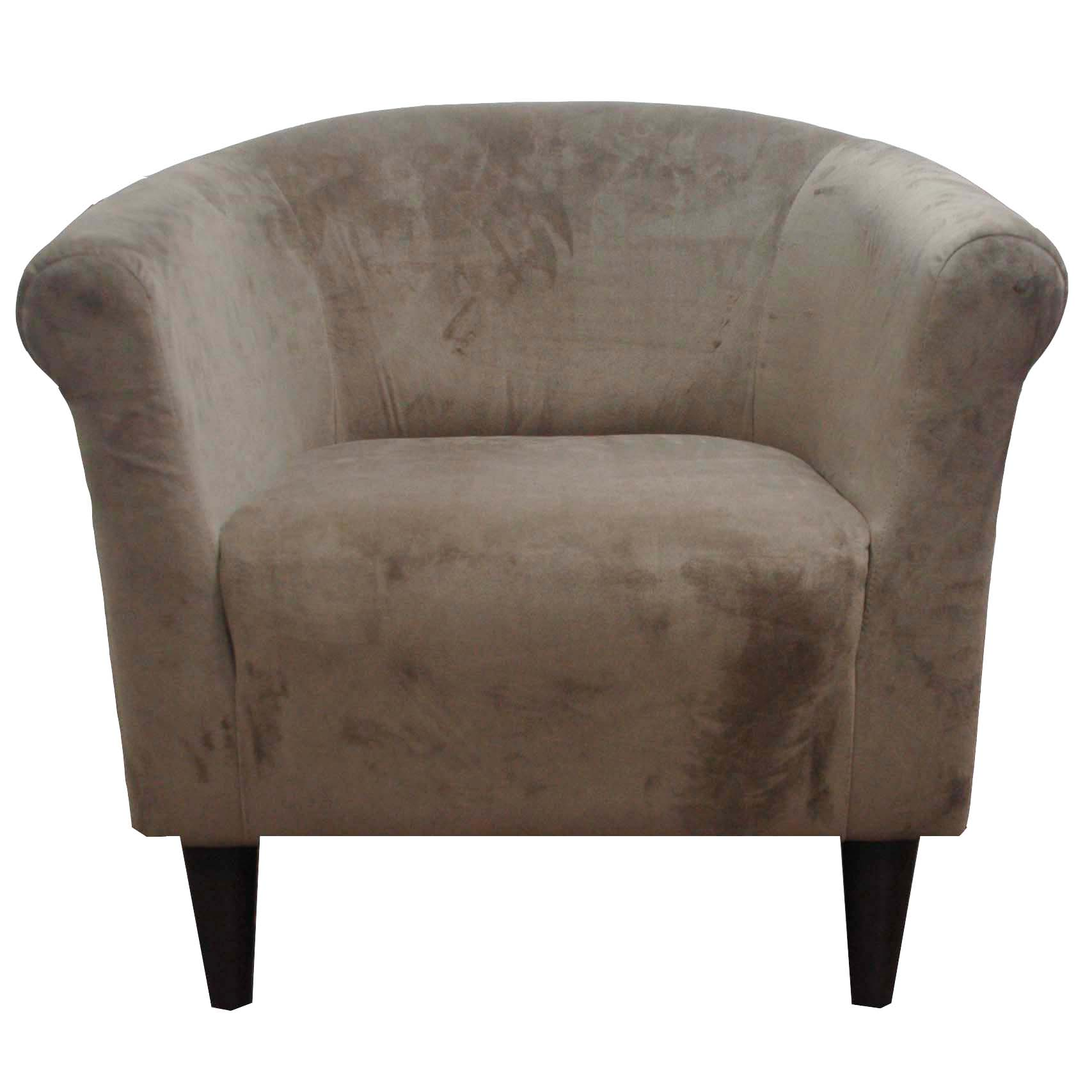 Newport Coffee Microfiber Club Chair