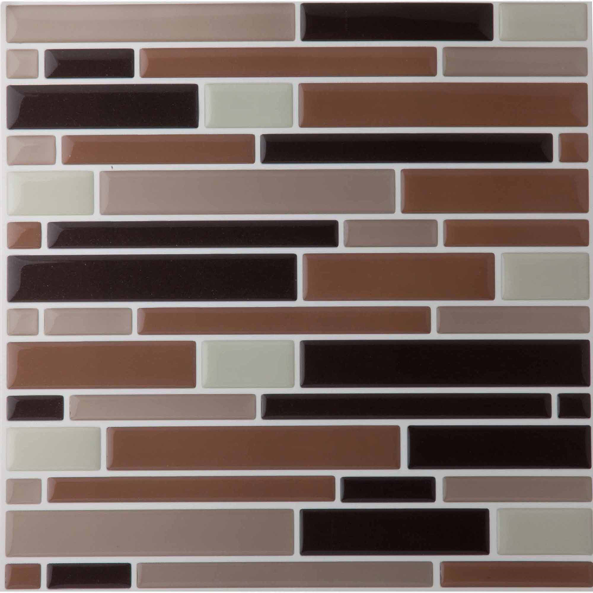 Magic Gel Beige 9.125x9.125 Self Adhesive Vinyl Wall Tile - 1 Tile/0.75 sq Ft.