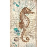 Red Horse Arts Vintage Seahorse by Suzanne Nicoll Graphic Art Plaque