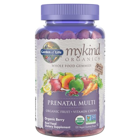 Garden of Life Mykind Organics Prenatal Gummy Multi - Berry 120 Organic Fruit - Life Fruit