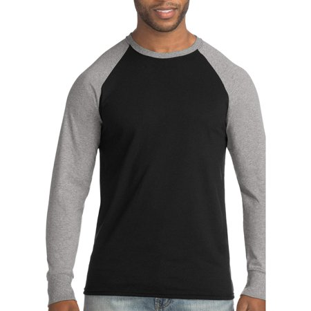 Hanes Men's FreshIQ X-Temp Colorblock Long-Sleeve Raglan Tee