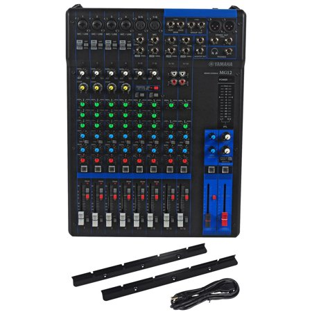 yamaha mg12 12 channel mixer w 6 mic pre 39 s 3 stereo channels 2 aux sends new. Black Bedroom Furniture Sets. Home Design Ideas