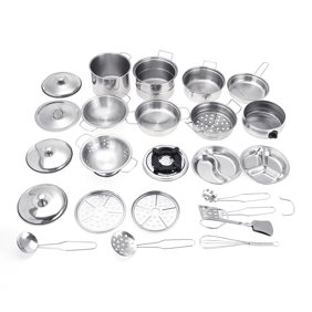 10pcs Stainless Steel Kitchen Toys Cookware Kitchen Cooking Set Pots Pans Toy For Children Play House Toys Simulation Kitchen Utensils Educational Toys Walmart Com Walmart Com