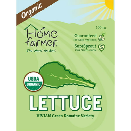 Image of Organic Green Romaine (Vivian) Seed Packet