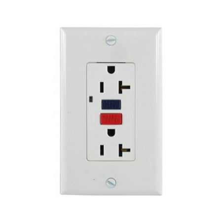 Gfi Rocker Outlet (20 Amp White GFI Duplex Outlet )