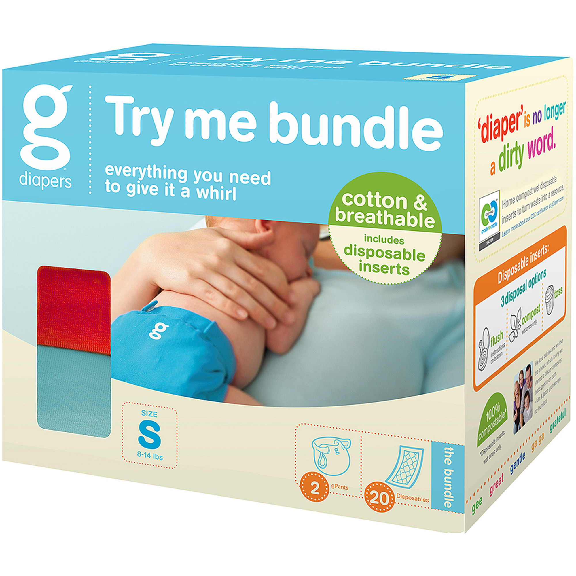 gDiapers Try Me Bundle, 25 pc