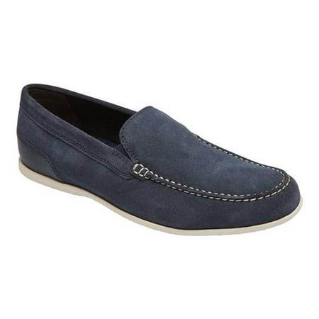 Men's Rockport Malcom Venetian Moc Toe Loafer Orange Black Leather