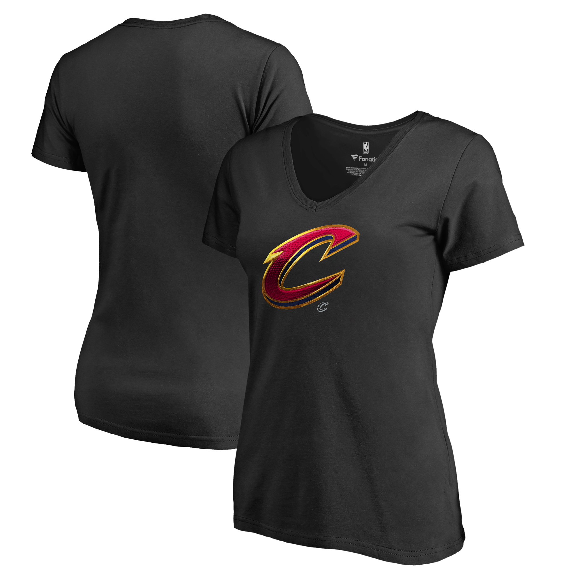 Cleveland Cavaliers Fanatics Branded Women's Midnight Mascot V-Neck T-Shirt - Black