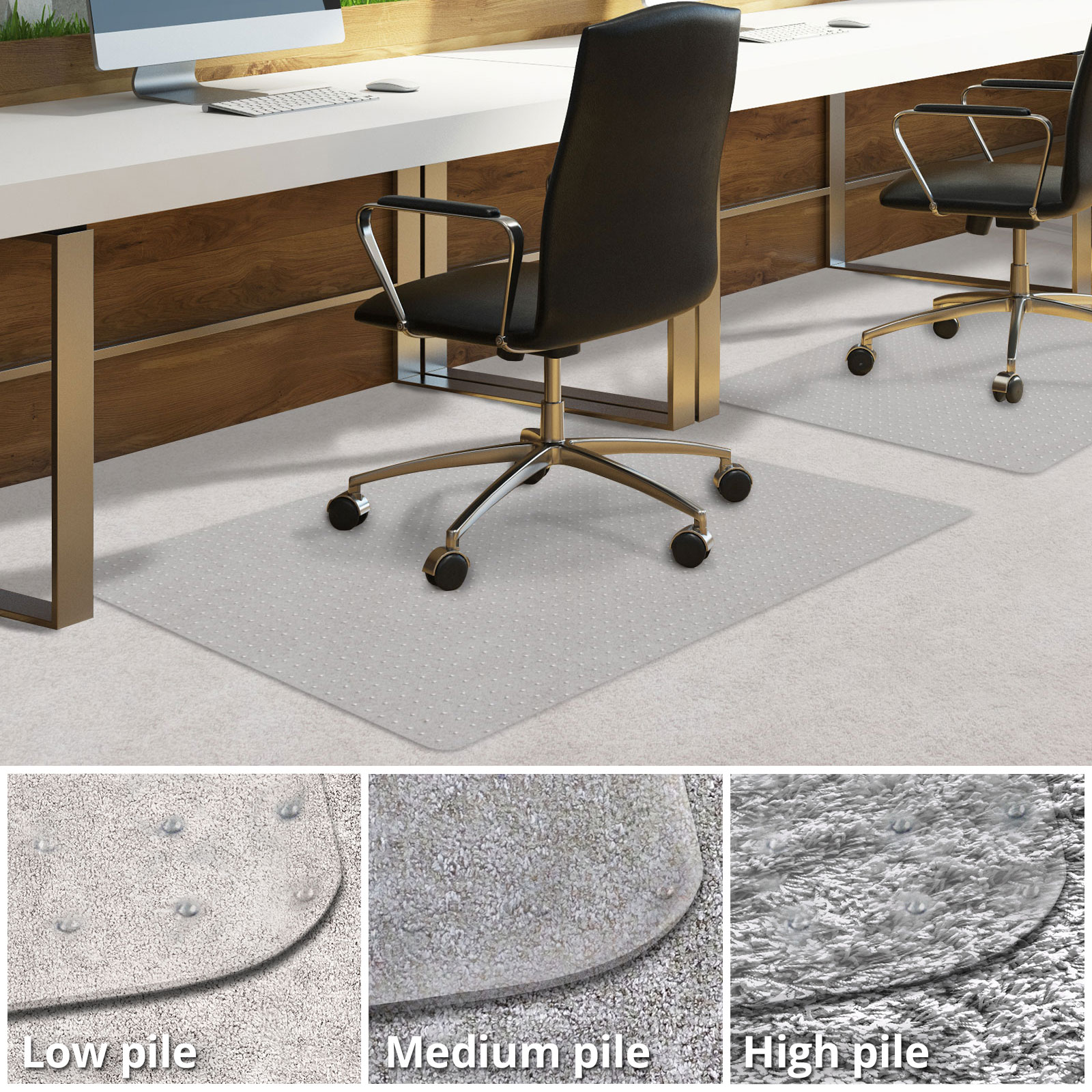 Office Chair Mat for Carpeted Floors | Desk Chair Mat for Carpet | Clear PVC mat & Office Chair Mat for Carpeted Floors | Desk Chair Mat for Carpet ...