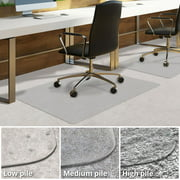 Office Chair Mat For Carpeted Floors Desk Carpet Clear Pvc