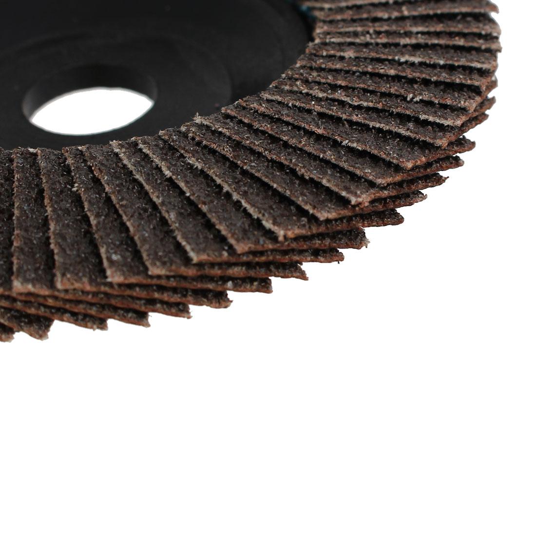 100mm x 16mm Flap Sanding Disc Polishing Grinding Wheels 60 Grit 10pcs - image 2 of 3
