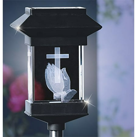 14'' Solar LED Memorial 3D Crystal Light (Hiddenite Crystal)
