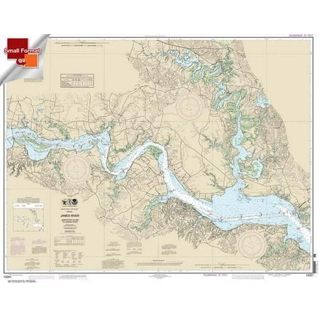 Small Format Noaa Chart 12251  James River Jamestown Island To Jordan Point