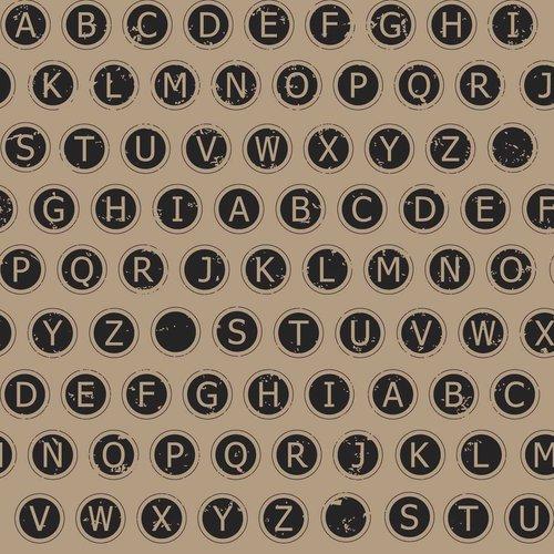 Springs Creative Creative Cuts Burlap Rustic Typewriter Fabric, 1-1/2 Yard Bolt, Print