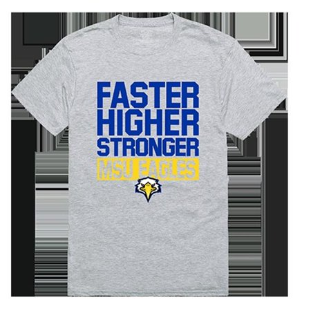 W Republic Apparel 530-134-HGY-01 Morehead State University Workout Tee Shirt - Heather Gray, Small - image 1 de 1