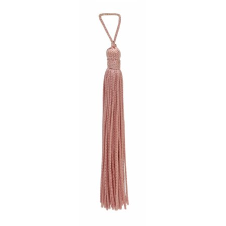 Set of 10 Light Rose Pink Chainette Tassel, 4 Inch Long with 1 Inch Loop, Basic Trim Collection Style# RT04 Color:Light Rose Pink - 07