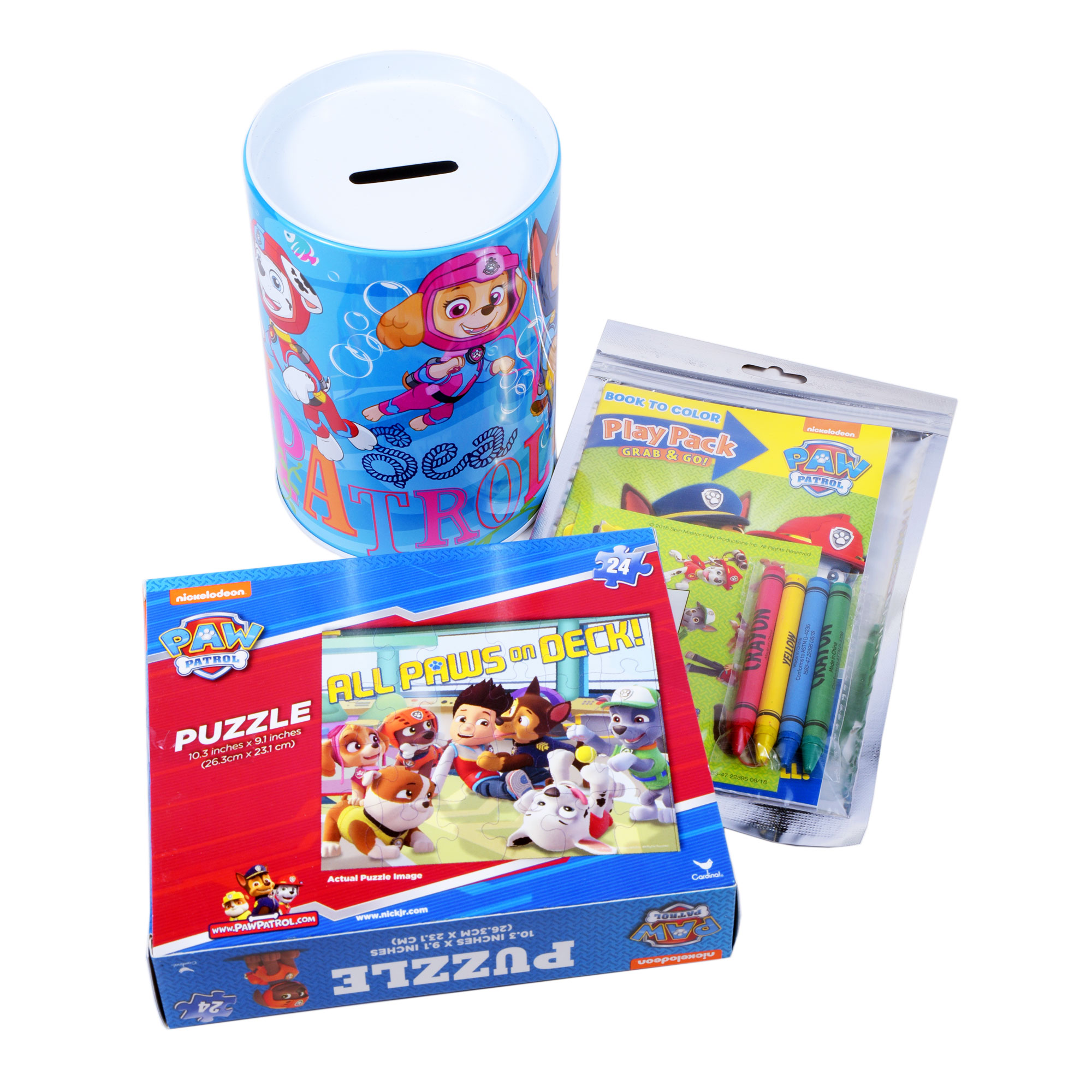 Kids Toy Gift Nickelodeon Paw Patrol Party Favor Supplies Swim Piggy Coin  Bank Jigsaw Puzzle Coloring Book - Goody Bags - Walmart.com - Walmart.com