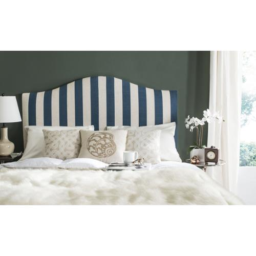 Safavieh Connie Navy & White Stripe Headboard (Queen)