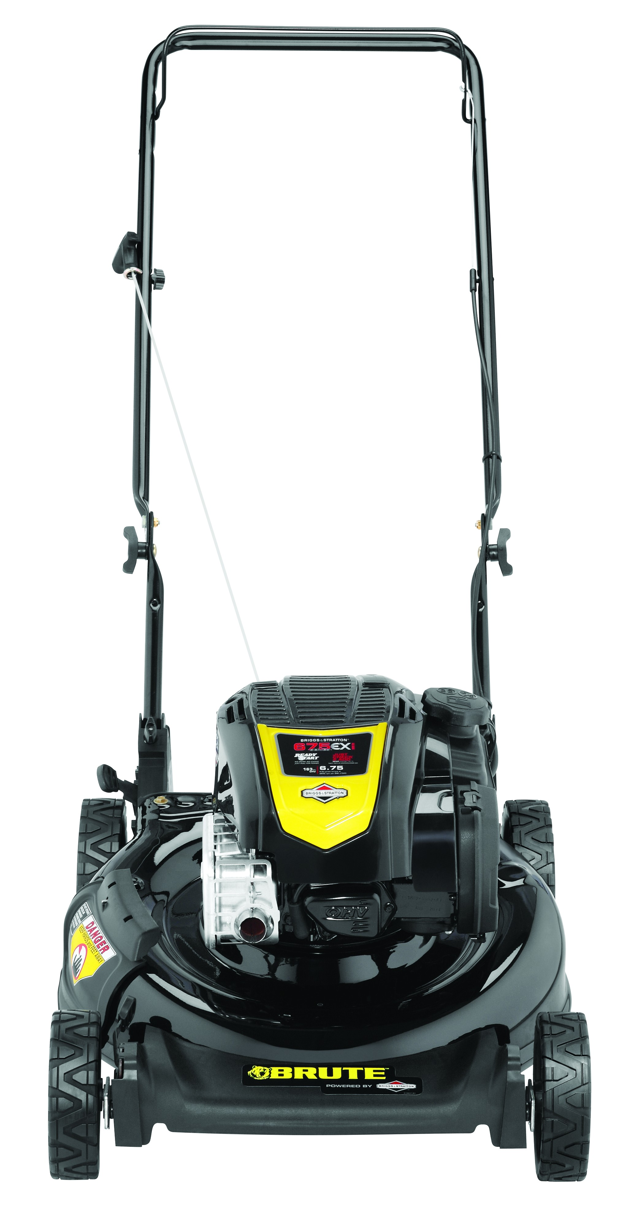 "21"" Brute Gas Push Lawn Mower with Briggs & Stratton 163cc Engine and Side Discharge, Mulching by MTD Products"
