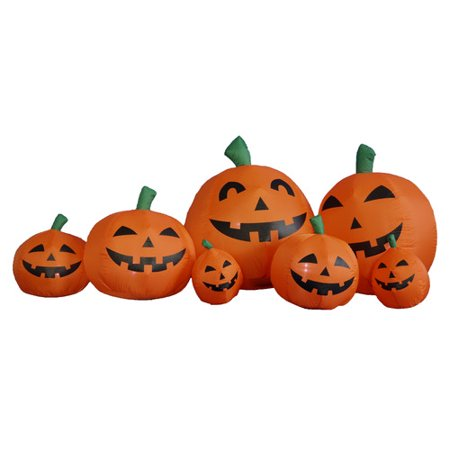 The Holiday Aisle Halloween Inflatable Orange Pumpkins Decoration (Inflatable Halloween Decorations Yard)