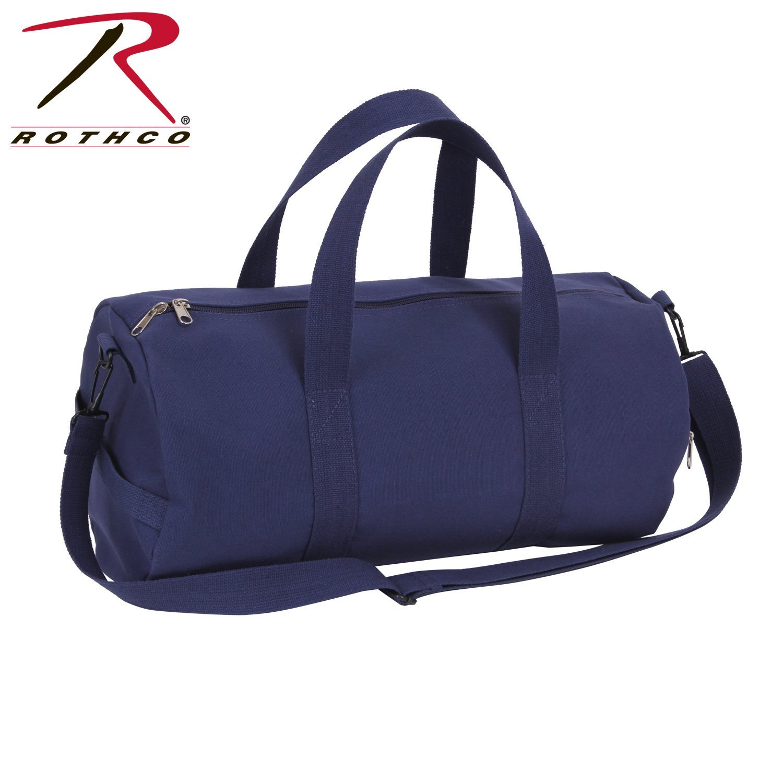 5852ed6df1a6 Rothco Canvas Shoulder Duffle Bag - 19 Inch, Navy Blue