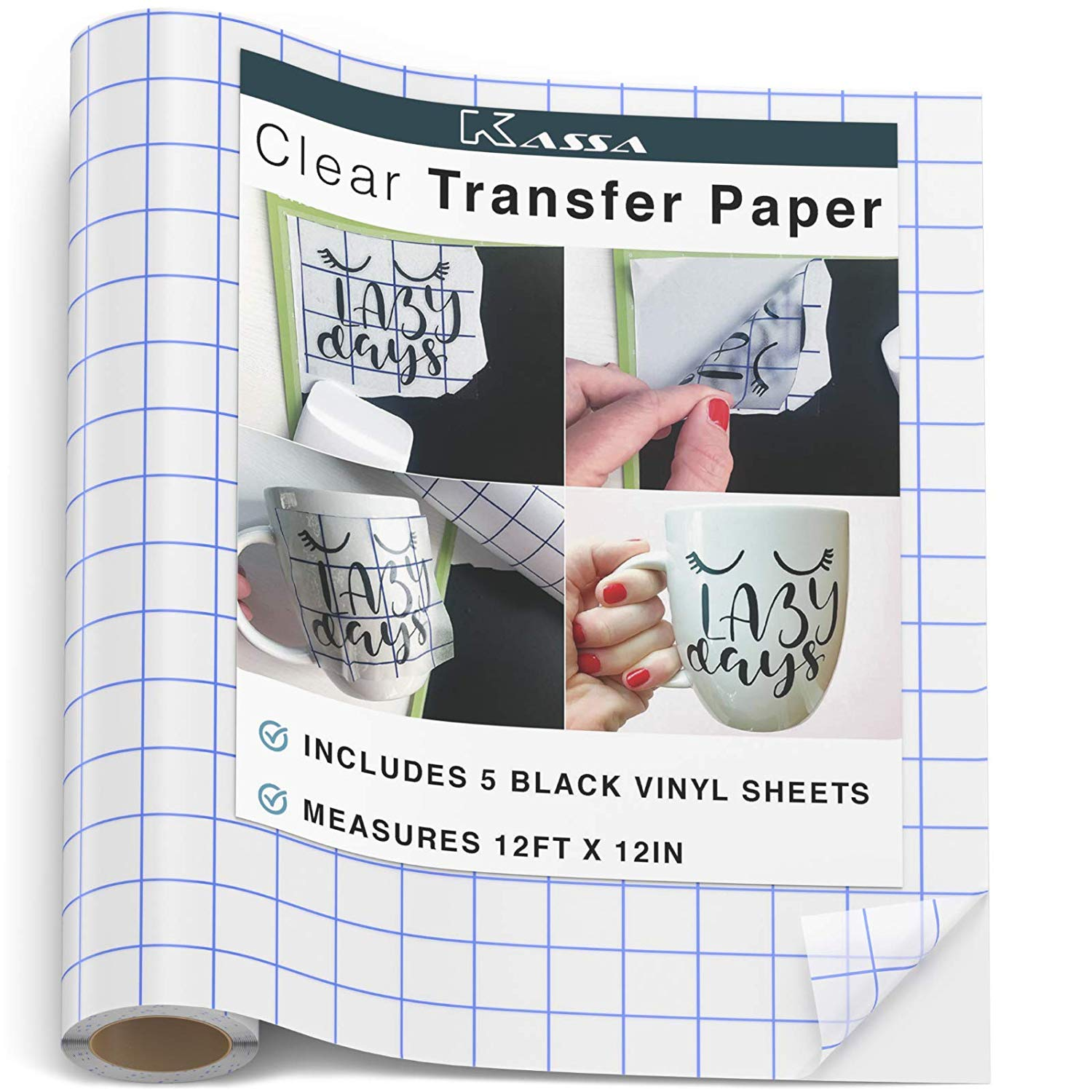 2 A4 Clear Sheets of Transfer of Application Tape users of Self Adhesive Vinyls