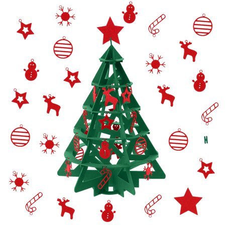 Kids Educational Toys Felt Christmas Tree Artificial DIY Xmas Tree with Hanging Ornaments Xmas Gift for Children Girls Boys ()