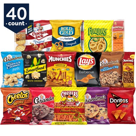 Frito-Lay Ultimate Snack Care Package, Variety Assortment of Chips, Cookies, Crackers & More, 40 Count ()