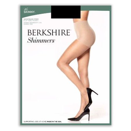 Berkshire The Skinny Shimmers Shaping - Silver Metallic Tights