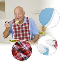3Colors Waterproof Adult Elder Mealtime Bib Washable Dinning Aid Clothes Protector, Elder Bib, Adult Bib