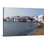 "Great BIG Canvas | ""Little Venice, Mykonos Town, Chora, Mykonos, Cyclades, Greece"" Canvas Wall Art"