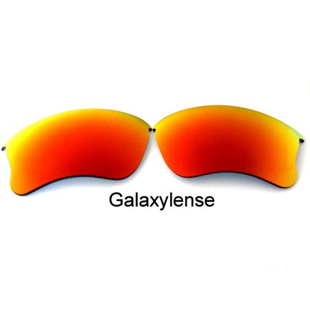Galaxy Replacement Lenses For-Oakley Flak Jacket XLJ Iridium Red Polarized