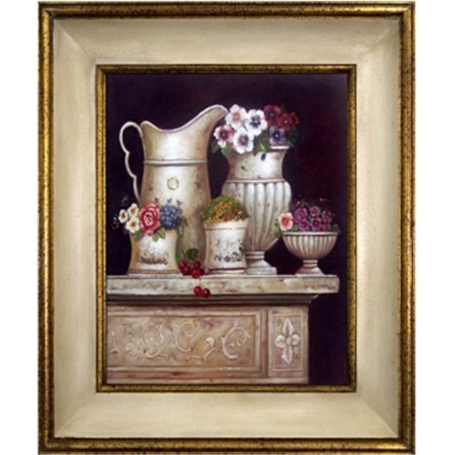 Artmasters Collection KM89849-40A Fragrance of Flowers II Framed Oil Painting