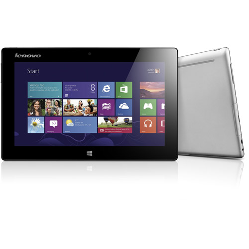 "Lenovo Mix Clover with WiFi 10.1"" Touchscreen Tablet PC Featuring Windows 8 Operating System, Black"