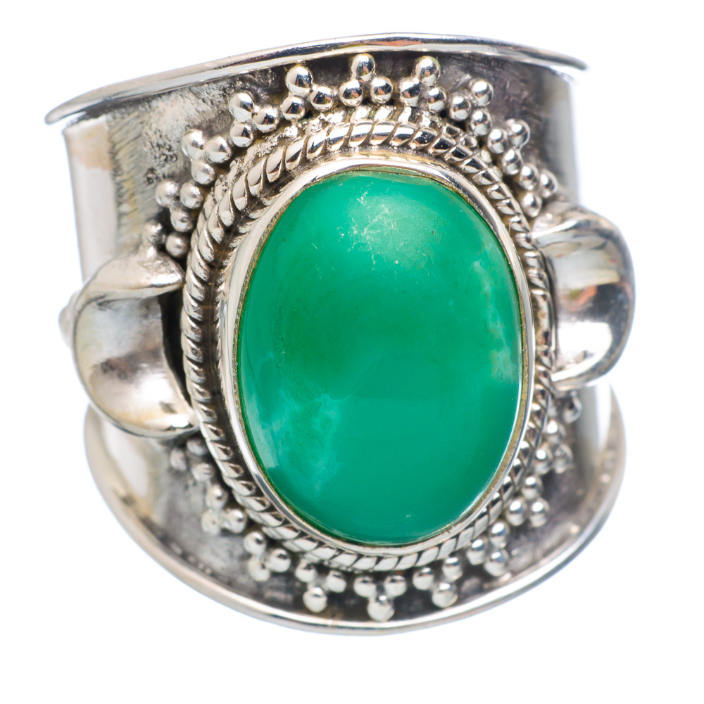 Ana Silver Co Chrysoprase Ring Size 6.75 (925 Sterling Silver) Handmade Jewelry RING854257 by Ana Silver Co.