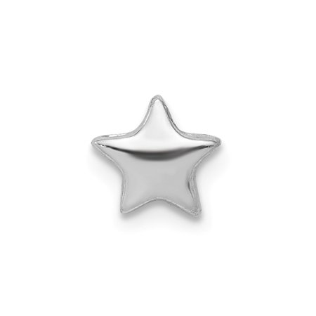 - Sterling Silver Star Slide Charm Pendant