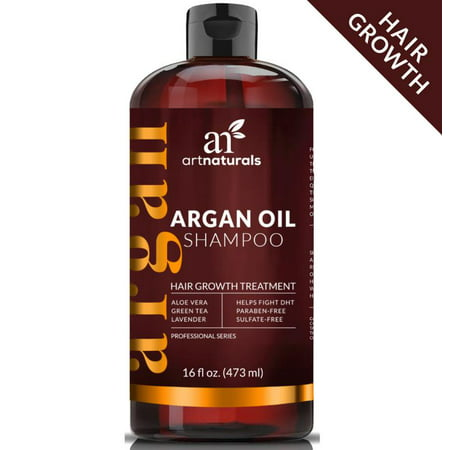 Argan Oil Regrowth Shampoo 16 oz - Hair Growth Treatment Fights DHT Sulfate (Best Hair Oil Treatment For Hair Growth)