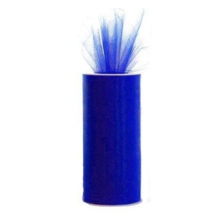 Royal Blue 6 X 75 Ft (25 Yards) Tulle 100% Nylon by eS