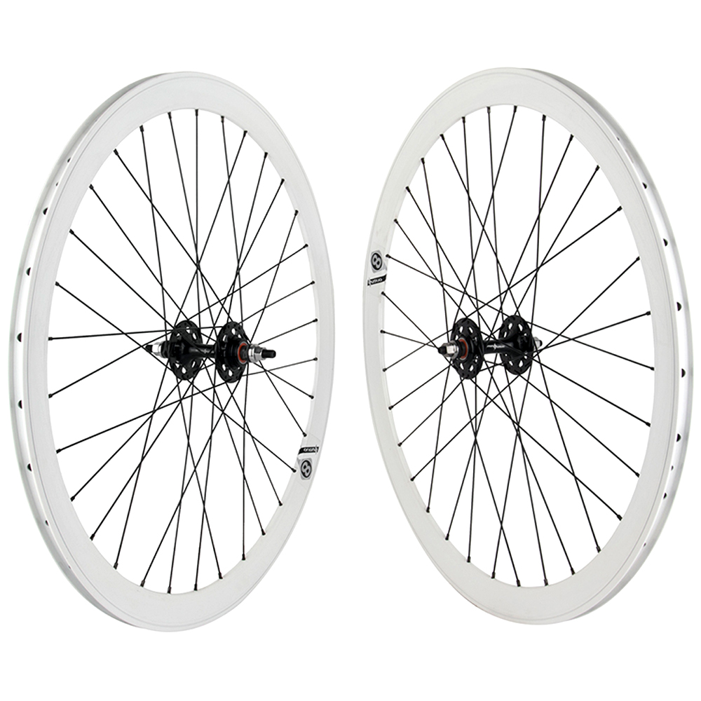 Origin8 Track Fixed Gear 42mm Deep Wheels White Black 700c Flip-Flop Sealed Hub