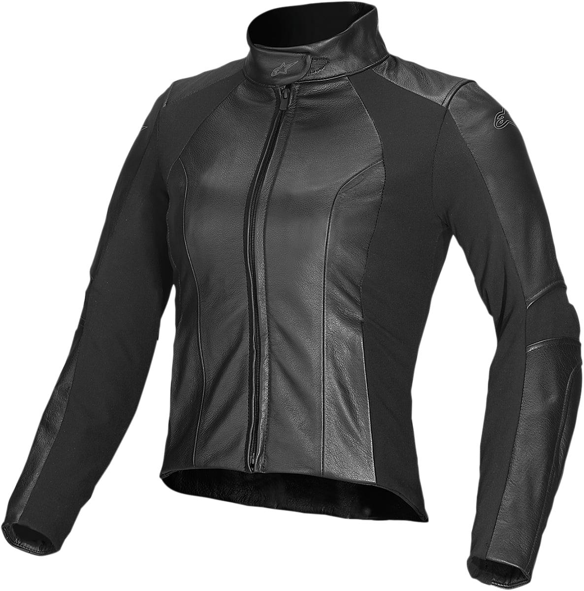 Alpinestars Vika 2X-Large Black Leather Jacket 14 50