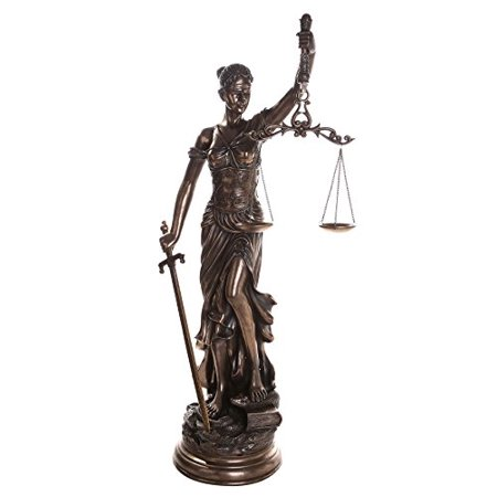 48 Inch Arch - Large 48 Inch Lady Justice Scales of Justice La Justitia Statue Lawyer Attorney Judge Collectible