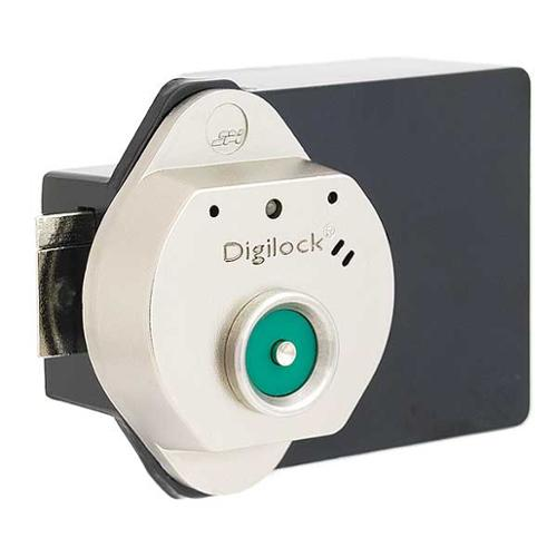 DIGILOCK T52-619-GR01 Electronic Lock, Brushed Nickel, 12 Button